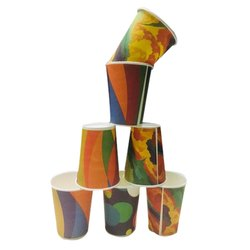 Colored Printed Paper Cup, Packet Size: 100 Pieces, Capacity: 350 ML