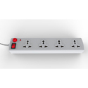 4 Socket with One Switch Spike Guard