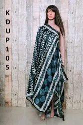 Printed Silk & Khadi Dupatta