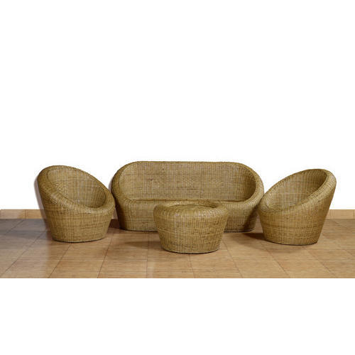 Brown Cane 6 Seater Sofa Set Rs 50000