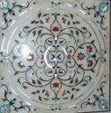 Designer White Marble Inlay Work