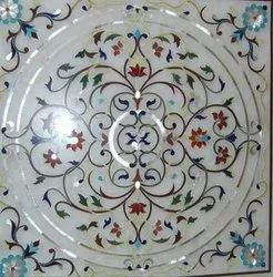 Designer White Marble Inlay Work