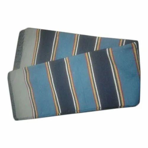 Cotton Yarn Striped Handloom Cotton Durrie, Size: 4x6 Feet