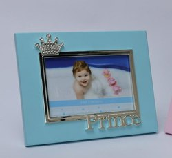 Blue Crown Silver Plated Photo Frame With Prince PF1099