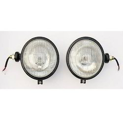 Head Lamp Assembly Round Black Tractor