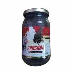 Prosona Chocolate Granules Powder, Glass Bottle