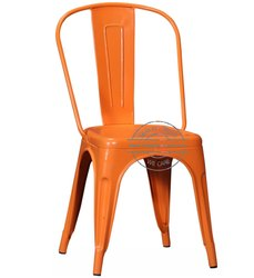 Handicraft Point Powder Coated Wrought Iron Cafe Chair
