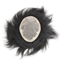 Human Hair Mens Patch and Toupee 9X7