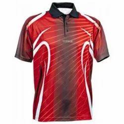 Polyester Men Printed Polo T-Shirts, Size: Medium