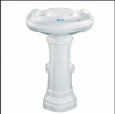 Big Sterling Set Pedestal Wash Basin
