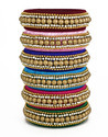 stylish Multicolor Silk thread Bangle