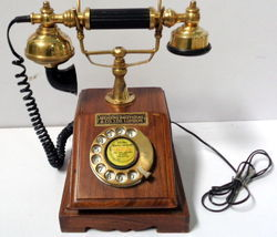 Victorian Style Rotary Wooden Dial Phone Telephone