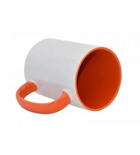 Orange Inner Handle Color Mug