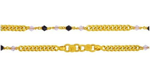bent wholesale gold glazed plated jewelry p leg foot tube product in golden anklet