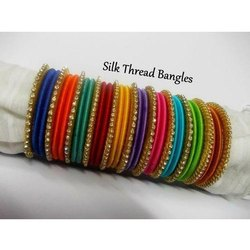 Multicolor Silk Thread Bangles