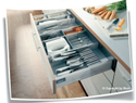 Hafele Orgaline Dividers For Kitchen Utensils, Knives And Small Electric Appliances