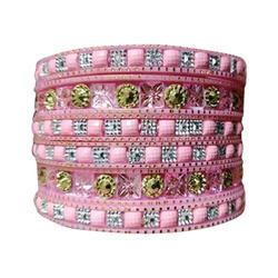 Party Wear Pink Bangle Set