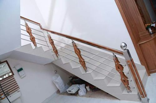Panel And Cable Steel Wood Combination Hand Railing
