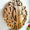 Ssh Natural Wooden Wall Clock, Size: 10*10, Model Name/number: 1502