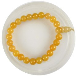 Eshoppee Yellow Aventurine Stone Power Bracelet With Guru Bead (Yellow Guru Bead)