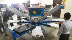 Manual 8 Color 8 Station T Shirt Printer