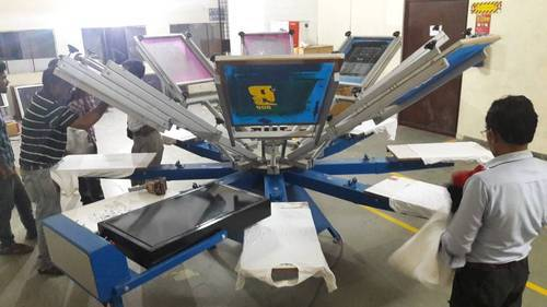 687cf552 T Shirt Screen Printing Machine - Manual 4 Color 4 Station T-Shirt Printer  Manufacturer from New Delhi
