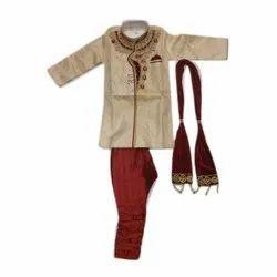 Silk Embroidery Kids Ethnic Wear Sherwani