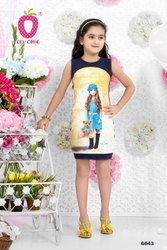 Beautiful Blue Teddy Print Dress