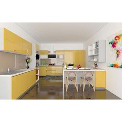 A Wide Range Of Colors Available Glass Edge Modular Kitchens Rs