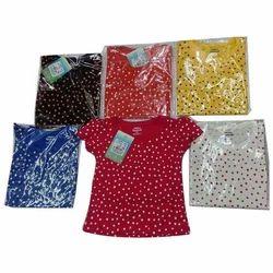 Multicolor Printed Girls T Shirt