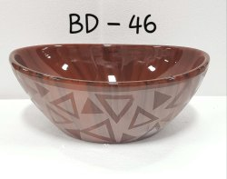 Red Marble Wash Basin