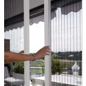 Poly Cotton White Pleated Mosquito Screen, For Window