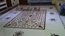White Marble Inlay Floor