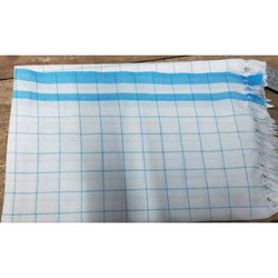Cotton Check White Towel, Packaging Type: Packet, 250-350 GSM