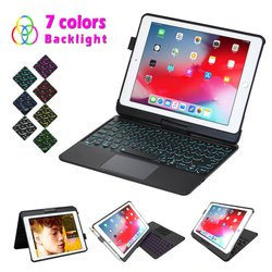 Aarvis Bluetooth Keyboard With Touchpad Flip Cover For Ipad Air / Ipad Air 2 / Ipad Pro 9.7 / Q5