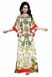 Long Ankle Length Satin Silk Kaftan (JK3976)
