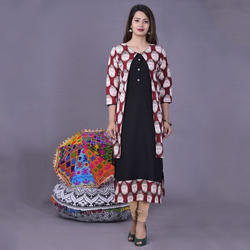 Ladies Party Wear Printed Kurtis