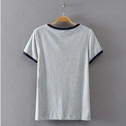 Small Half Sleeves Ladies Plain T Shirts