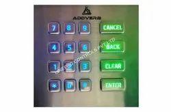16 keys Stainless Steel Keyboard with Backlight