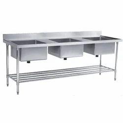Triple SS Sink Table