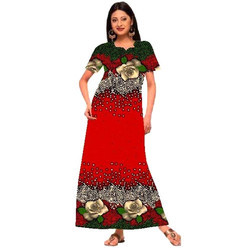 ee447b9f6dd71 Large Stitched Designer Printed Ladies Cotton Gown