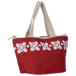 Dyed Jute Bag With Zipper Patti