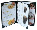 Restaurant Menu Covers Holders 9x12 Inches, 3 Panel 4 View Folder, Menu Presenters For Restaurants