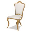 Gold & White Stainless Steel Dining Chair