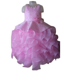 Pink And Girls Pink Party Wear Frock