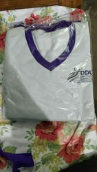 Cotton White Ddu gky Girl Uniforms, XS