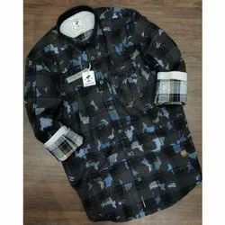Male Mill Made Fabric 100% Cotton Casual Print Shirt