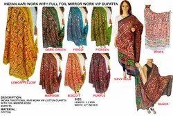 Gujarati Traditional Aari Work Dupatta - VIP Cotton Dupatta