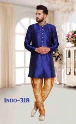 Embroidered Silk Designer Mens Indo Western Sherwani