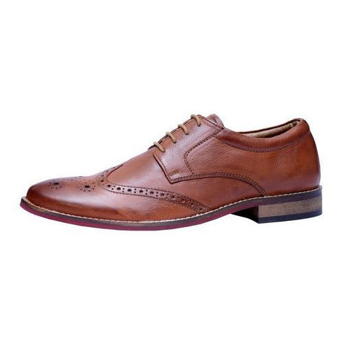 Men NDN Leather Brown Formal Shoe, Size: 6-10